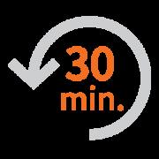 Économie journalière moyenne de 30 minutes par infirmière
